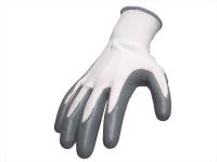 Polyesterhandschuhe mit Nitrilbeschichtung, glatt beschichtet, grau