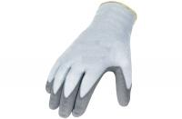 Polyesterhandschuhe mit Nitrilbeschichtung, glatt beschichtet, grau, Größe 11