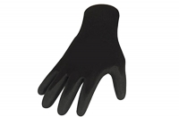 Polyesterhandschuhe mit Nitrilbeschichtung, glatt beschichtet, schwarz, Größe 10